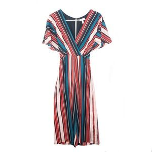 Leith   Colorful Striped Jumpsuit - Size XS